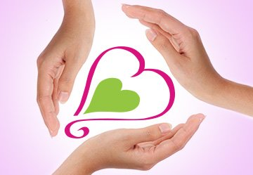 3 hands around heart